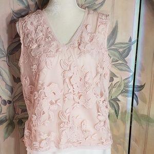 Tahari Shell Blouse - Fancy Embellished - Large